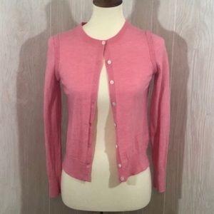 Banana Republic Pink Merino Wool Cardigan EUC